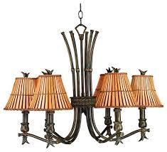 kenroy home kwai 6 light chandelier bronze heritage finish 90456bh