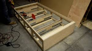 how to make a twin bed with drawers by diy with chris