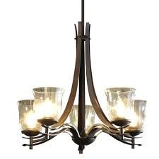 allen roth vallymede replacement glass 5 light bronze chandelier w clear rain glass shades fast and allen roth