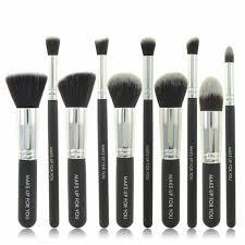 10pcs black cosmetic brushes set foundation makeup tools brush sgs ship from uk