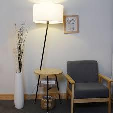 jessie 64 96 wood end table floor lamp