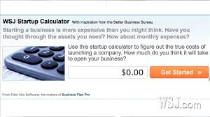 How To Calculate Start Up Costs Wsj