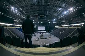 panorama of the arena facing the main stage