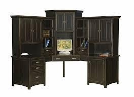 home office desk hutch. Brilliant Computer Corner Desk With Hutch Large Amish Center Home Office Wood C