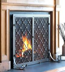 insulated fireplace cover screens