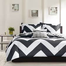 What size is a queen comforter Bedding Sets Piece Plush Reversible Zig Zag Chevron Print Comforter Set Teal Grey Black Andrespelaezco Cheap Grey Queen Comforter Find Grey Queen Comforter Deals On Line