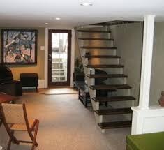 Open basement stairs Shaped Open Basement Stairs Highsolco Open Basement Stairs Stairs Design Design Ideas Electoral7com