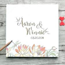 Wedding Guest Sign In Book Wedding Guest Book Template