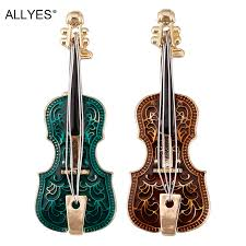 ALLYES <b>Violin</b> Enameled <b>Women</b> Brooches <b>Classic</b> Boutique Gold ...