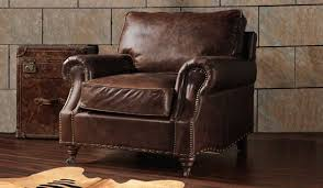 burlington antique leather armchair