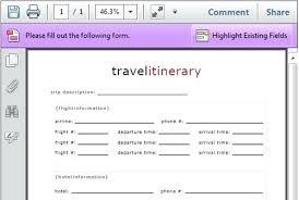 Itinerary Travel Template Free Travel Itinerary Printable Vacation Template Helenamontana Info