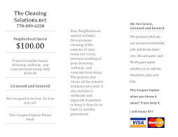 the cleaning solutions