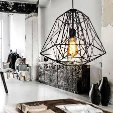 loft industrial iron cage. Vintage Industrial Style Metal Cage Pendant Light Chandelier Lights Living Room Bar Loft Lamp Black/White Modern Ceiling Lighting Hanging Shade Iron N