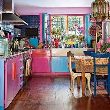 Eclectic Kitchen Pink Blue Eclectic Kitchen Designs Eclectic Kitchen Designs