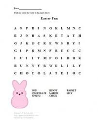 Small Picture Easter Color Sheets and Word Search Winter and Spring