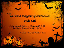 halloween sale flyer food dc food bloggers spooktacular bake sale urban bohemian