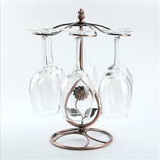 metal wine glass rack wine glass stand vintage sunflower metal wine glass holder rack home metal wine glass cork holder