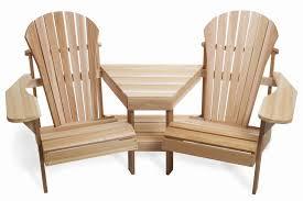 twin adirondack chair plans. Furniture: Stunning Twin Integrated Teak Adirondack Chairs - Lands End  Twin Adirondack Chair Plans