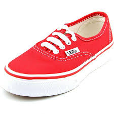 red vans shoes for girls. vans authentic youth red sneakers shoes for girls