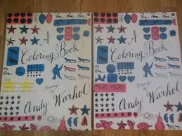 a coloring book drawings by andy warhol 1990 first edition warhol