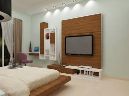 bedroom with tv. Bedroom With Woodwork For TV Unit Tv