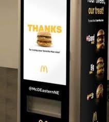 Mcdonalds Vending Machine Delectable McDonald's Unveil Big Mac ATM Kiwi Kids News