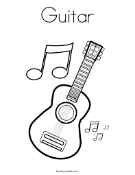 Small Picture Coloring Page Of Guitar Coloring Coloring Pages