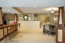 ... Charming Basement Interior With Various Basement Wall Color : Charming  Basement Interior Decoration Using Light Green ...