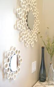 who would ever suppose that pvc pipe would make such fantastic contemporary mirror frames