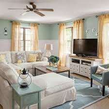 cottage living rooms. Blue And White Coastal Cottage Living Room Before After / Makeover Rooms T