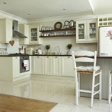 Fine White Tile Flooring Kitchen Butchers Block Marble Top Floorstiled For Inspiration