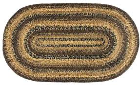 small oval jute rug cappuccino 5 x 8 ft place braided
