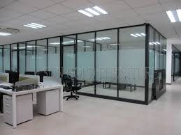 china floor to ceiling fosted glass modern demountable office