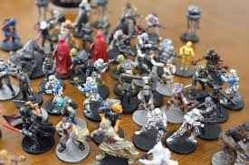 all of these miniatures were painted with wal mart craft paints