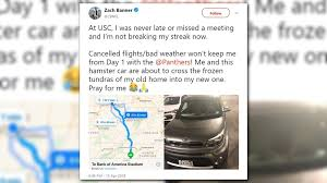 panthers player makes drive from ohio to nc for team workouts
