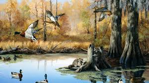 Outdoor hunting backgrounds High Resolution Hunting Wallpaper Wildlife Paintings Wildlife Art Art Canard Outdoor Art Wall Pursue The Outdoors Pin By Craig Lawhorne On Hunting Wall Murals Wallpaper Wall