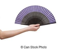 holding hand fan. hand holding fan isolated on white background
