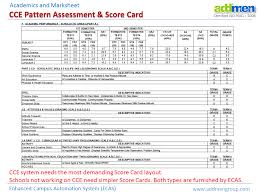 Cce Grading Chart Cce Pattern For Cbse Using Ecas