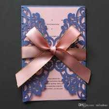 Invitations Card Maker Blue Wedding Invitation Card With Insert Envelop Large Pink