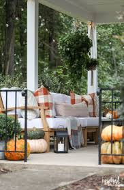 Patio furniture decorating ideas Front Porch Fall Porch Decorating Ideas How To Style Your Porch For Fall decorating fall Inspired By Charm Fall Porch Decorating Ideas Creative And Festive Fall Decor