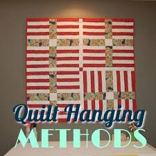 four ways to hang a quilt right sides together
