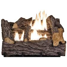 vent free propane gas fireplace logs with remote scvfr18l the home depot