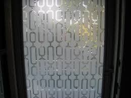 See Through Glass Classy Sidelight Window Film Stained Glass With Modern Wallpaper