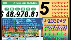 resultado da mega Sena concurso 2330 deu 5 ponto - YouTube
