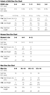 Foot Measurement Chart Foot Size Measurements For Crochet Knitting And Sewing