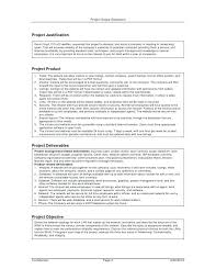 Project Scope Statement Template Sample Document Consultant Of Work ...