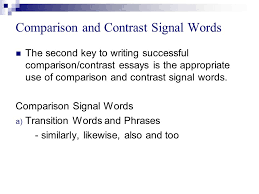 comparison and contrast essay  explain the similarities and the  9 comparison and contrast
