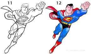 The first real superhero and a true marvel legend, known from the classic comic series. How To Draw Superman Step By Step Pictures