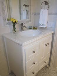 good looking strasser woodenworks in bathroom traditional with small vanity next to sonoma tile alongside bathroom tile trim and tile around mirror