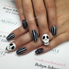 Halloween Gel Nail Designs 2018 Halloween Nails Jack Style Gel Nails Coffin Nails